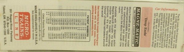 Micro Trains Line 46230 Frisco 51245 50ft Drop End Gondola 1:160 OVP 156G å*