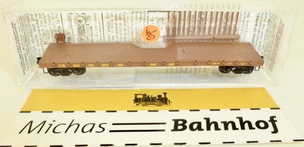 MICRO TRAINS 44090 CB&Q 93374 50' Flatcar Straight Side N 1:160 #85L å
