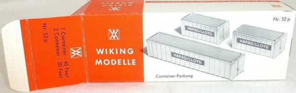 Für 1 Container 40ft 2 Container 20ft Karton leer Wiking 52p å *
