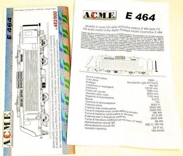 FS E464.008 XMPR Elektrolok EpV ACME 60040 H0 1:87 OVP å *