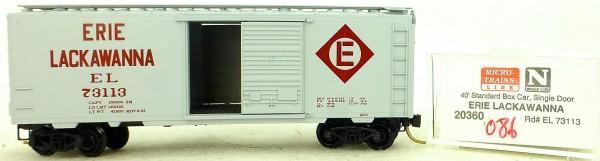 Micro Trains Line 20360 Erie Lackawanna 73113 40' St. Boxcar 1:160 OVP #H086 å
