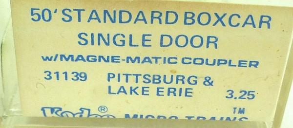 50´ Standard Boxcar PITTSBURGH ERIE 23029 Micro Trains Line 31139 N 1:160 C å*
