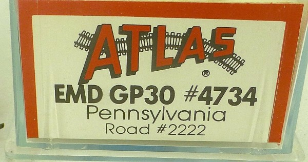 ATLAS 4734 KATO EMD GP30 Pennsylvania R Road 2222 Diesellok N 1:160 OVP ∑ å *