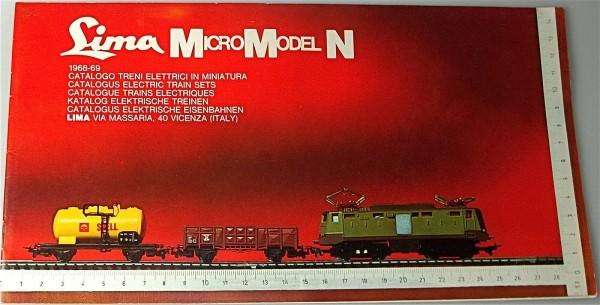 LIMA MicroModel N Katalog 1968 1969 å