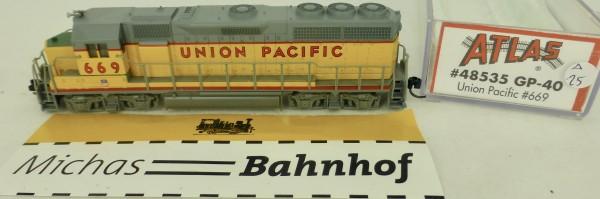 GP-40 Union Pacific 669 Atlas 48535 Diesellok N 1:160 OVP ∆25 å