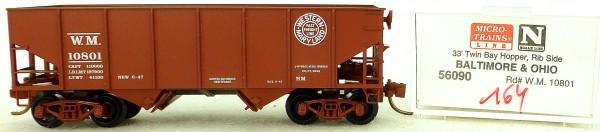 Micro Trains Line 56090 Baltimore Ohio WM 10801 33' Twin Hopper OVP 1:160 #K164 å