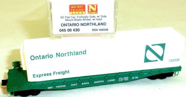 Ontario Northland 50 Flat Car Fishbelly Side MTL 045 00 430 N 1:160 OVP HU3 å