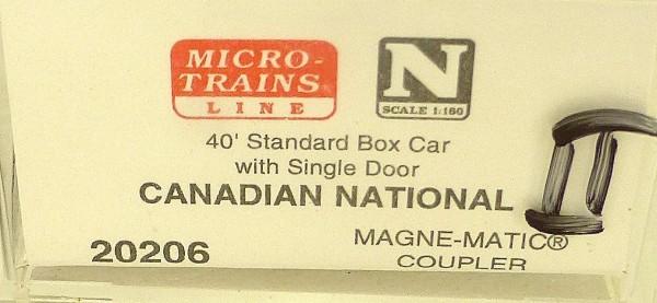 40´ St Boxcar Canadian Nat Railway 521995 Micro Trains Line 20206-II N 1:160 Då*