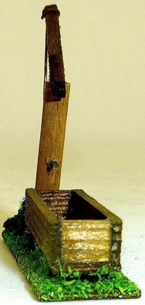Ländlicher Pumpbrunnen Preiser 521 Holz 50er 60er Jahre H0 1:87 PH012 å *