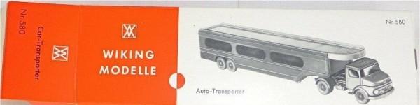580 Mercedes Auto Transporter LKW Wiking Karton leer å *