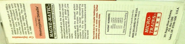 50´ Standard Boxcar D&RGW 60810 Micro Trains Line 32220 N 1:160 C å *