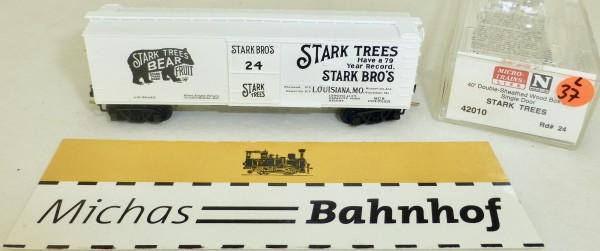 MICRO TRAINS 42010 Stark Trees 24 40' Sheathed Wood Boxcar N 1:160 OVP #37L å