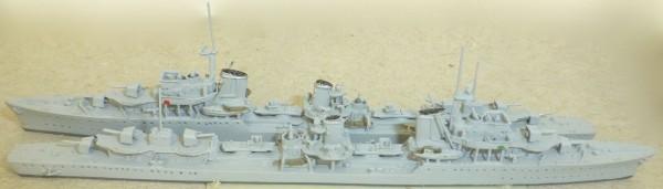 2 Zerstörer Neptun 1063A Z20-22 Schiffsmodell 1:1250 SHP560 å *