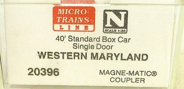 40´ St Boxcar Western Maryland Holiday Micro Trains Line 20396 1:160 D å *