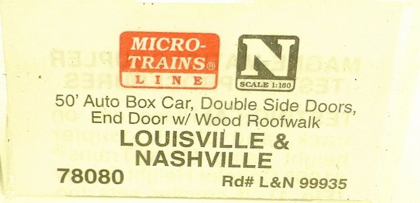 Micro Trains Line 78080 Louisville Nashville 99935 50´ Box Car 1:160 OVP #E å *
