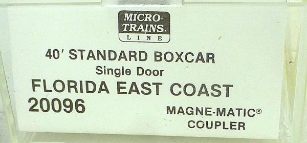 40´ St Boxcar Florida East Coast 21035 Micro Trains Line 20096-I N 1:160 D å *