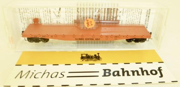 MICRO TRAINS 45010 Illinois Central Gulf 50' Flatcar Fishbelly Side N 1:160 #83L å
