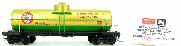Micro Trains Line 65440 Holiday Car 1999 39' Single Dome Tank Car 1:160 OVP #i020 å