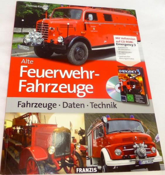 Alte Feuerwehrfahrzeuge Daten-Technik, Thomas Riegler incl. CD-Rom FRANZIS # å