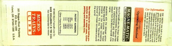 Micro-Trains Line 92050 2 Bay ACF Centerflow NORFOLK & WESTERN N 1:160 X å *