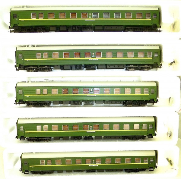 Leningrad Helsinki Expresszug Set mit 5 Wagen Heris 14649 H0 1:87 OVP LJ1 å *