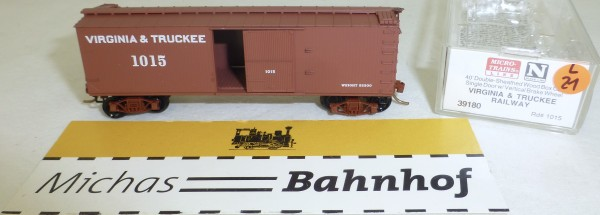 MICRO TRAINS 39180 Virginia Truckee 1015 40' Wood Sheathed Boxcar N 1:160 OVP #21L å
