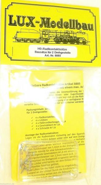Radsatzkontakte für 2 Drehgestelle LUX MODELLBAU 8885 1:87 H0 å *