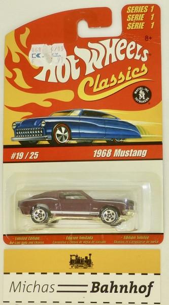 1968 Mustang Hot Wheels Classics 19/25 Serie 1 NEU im Blister #HB5 å