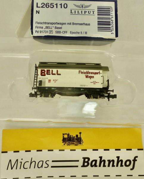 Bell Fleischtransportwagen Bremserhaus SBB Ep3 Liliput L265110 N 1:160 OVP HR3 å