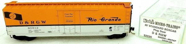 50´ Standard Boxcar D&RGW 60812 Micro Trains Line 32220 N 1:160 C å *