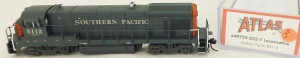 Atlas 49725 B23-7 Southern Pacific 5112 Diesellok Decoder Ready OVP N 1:160 #03& å