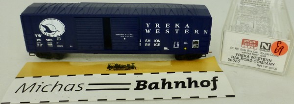 Yreka Western RR 50' Rib Side Box Car Micro Trains Line 30020 1:160 P69 å