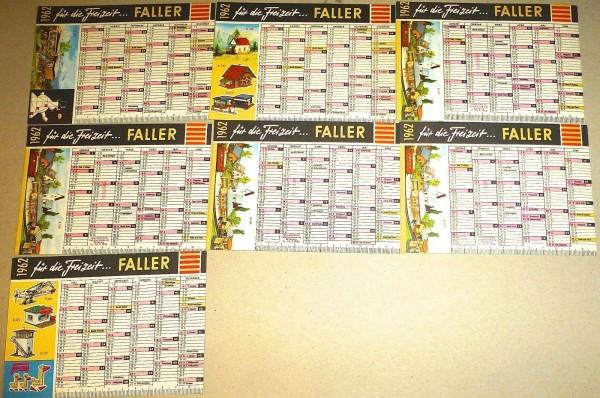 7 x Faller für die Freizeit 1962 Kalender å *