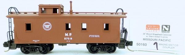 Micro Trains Line 50160 Missaouri Pacific 875-R 34' CABOOSE 1:160 OVP #K041 å