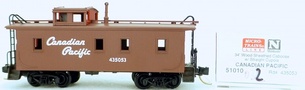 Micro Trains Line 51010 Canadian Pacific 435053 34' CABOOSE 1:160 OVP #K032 å