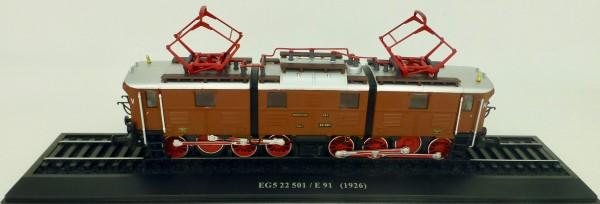 Ellok EG5 22 501 E91 (1926) H0 1:87 Standmodell auf Sockel Atlas 7153106 LIH µ
