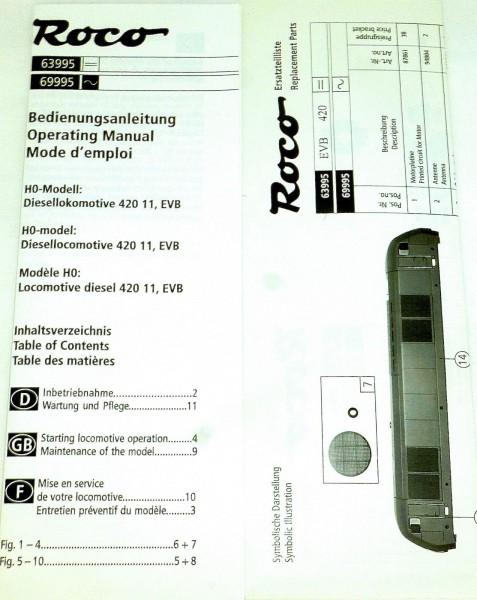 EVB 420 11 Diesellok Roco 63995 H0 1:87 OVP KB2 µ *