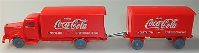 Coca Cola rot rot Mercedes 5000 Hängerzug IMU H0 1:87 #15# å