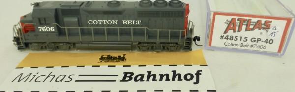 GP-40 Cotton Belt 7606 Atlas 48515 Diesellok N 1:160 OVP ∆15 å