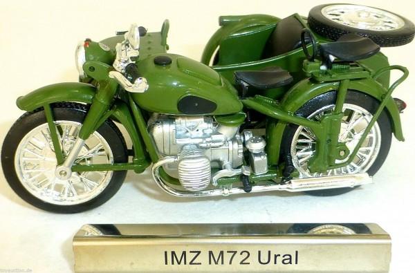 IMZ M72 Ural Motorrad Beiwagen grün DDR 1:24 ATLAS 7168121 NEU OVP LA3 µ *
