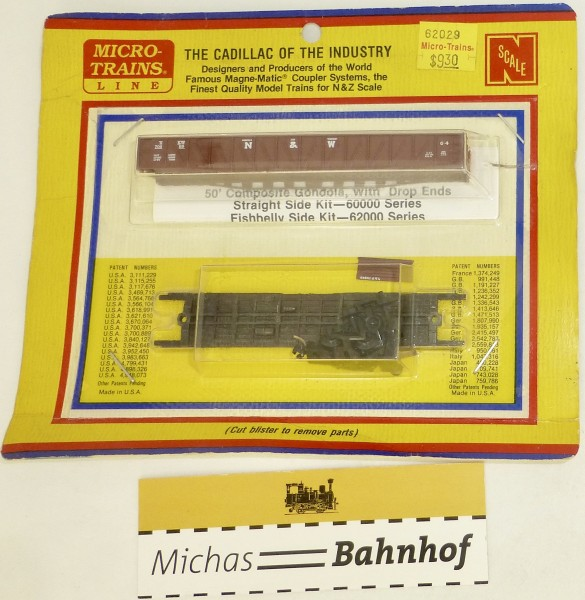 BLISTER KIT Norfolk & Western 70699 Güterwagen Kit Micro Trains 62029 1:160 HC6 å