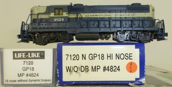 Life Like 7120 Missouri Pacific 4824 GP18 Hi Nose Diesellok N 1:160 OVP Y2 å *