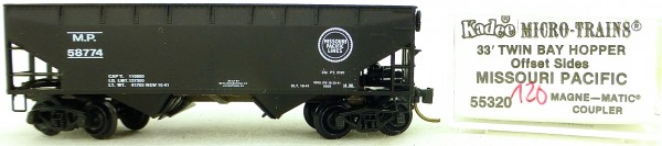 Micro Trains Line 55320 Missouri Pacific 58774 33' Twin Hopper OVP 1:160 #K120 å
