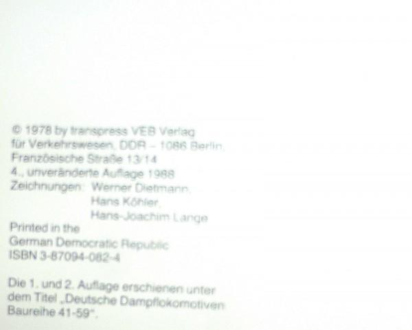Damfplokomotiven deutscher Eisenbahnen BR 41-59 Eisenbahn Fahrzeug Archiv å √