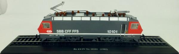 Elektrolok Re 4/4 IV 10101 1982 H0 1:87 Standmodell auf Sockel Atlas 7153118 LIH µ