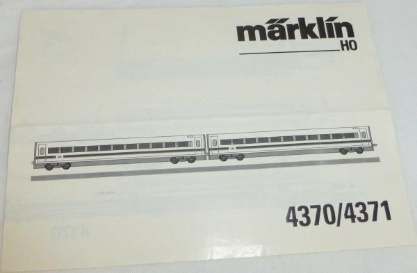 Märklin 4370/4371 Anleitung