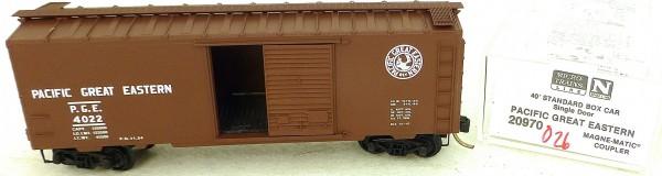 Micro Trains Line 20970 P. G. E. 4022 40' Standard Boxcar 1:160 OVP #H026 å
