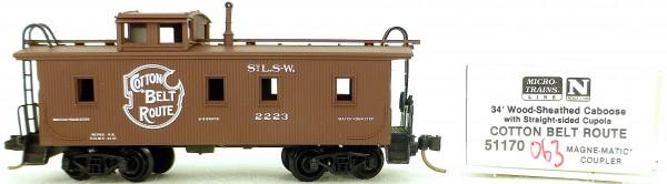 Micro Trains Line 51170 Cotton Belt Route 2223 34' CABOOSE OVP 1:160 #K063 å
