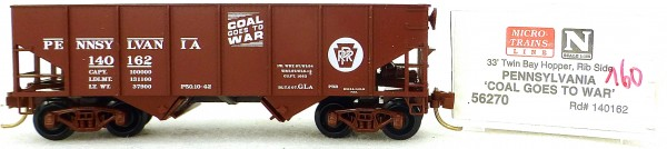 Micro Trains Line 56270 Pennsylvania 140162 33' Twin Bay Hopper 1:160 OVP #i160 å