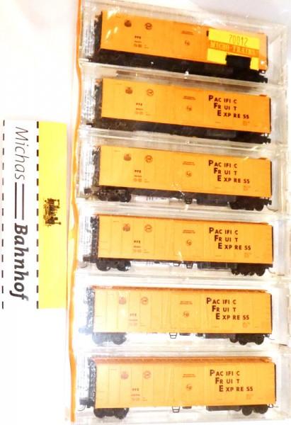 Pacific Fruit Express 51' Reefer 6er Set Micro Trains Line 70012 N 1:160 MR1 å